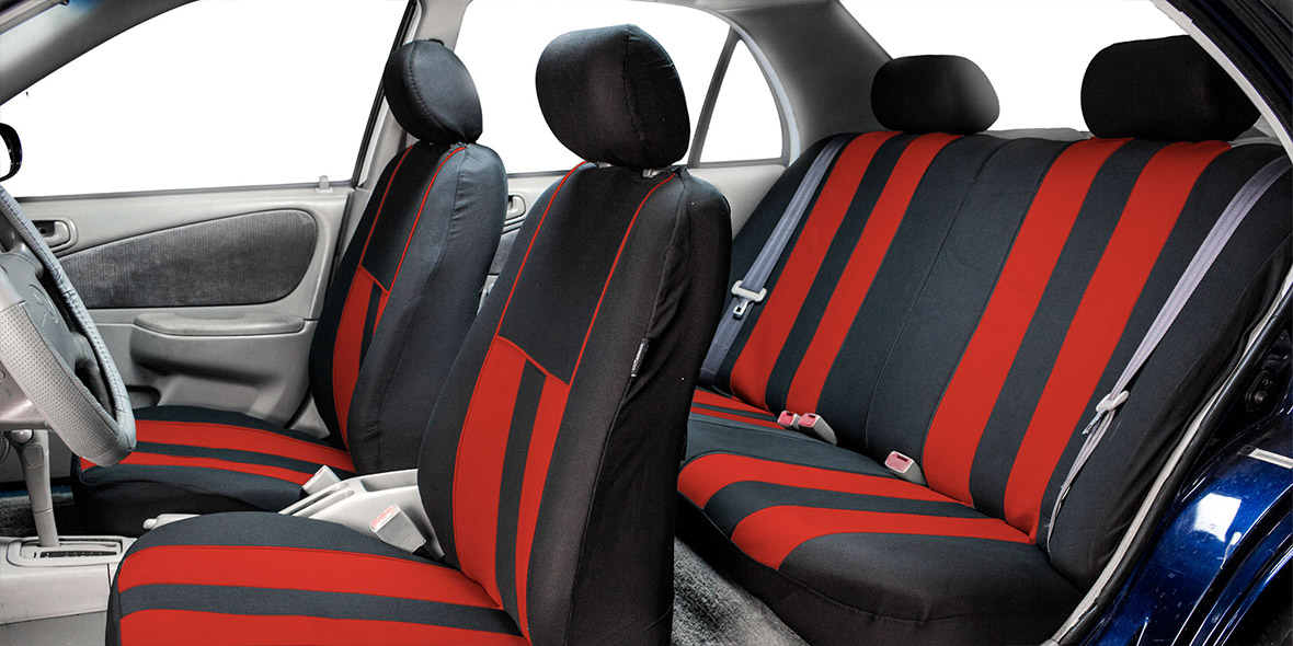 Striking Striped Seat Covers - Full Set banner