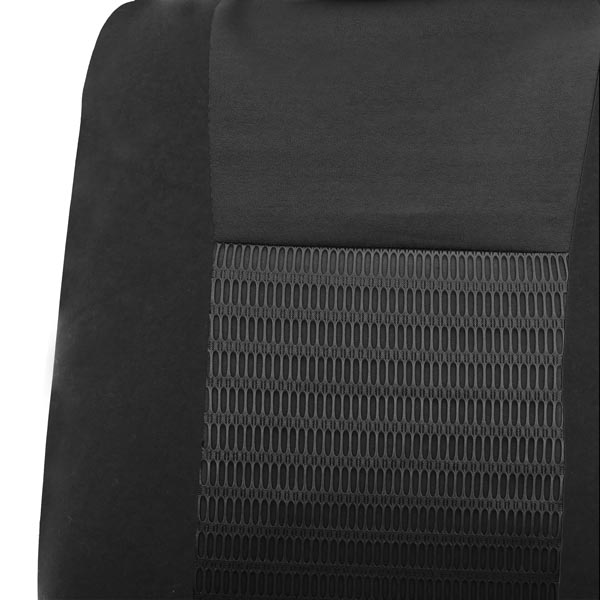 Deluxe 3D Air Mesh 3 Row Seat Covers - Black material