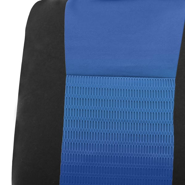 Deluxe 3D Air Mesh 3 Row Seat Covers - Blue material