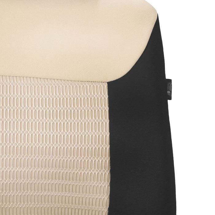 Premium Fabric 3 Row Seat Covers - Beige material
