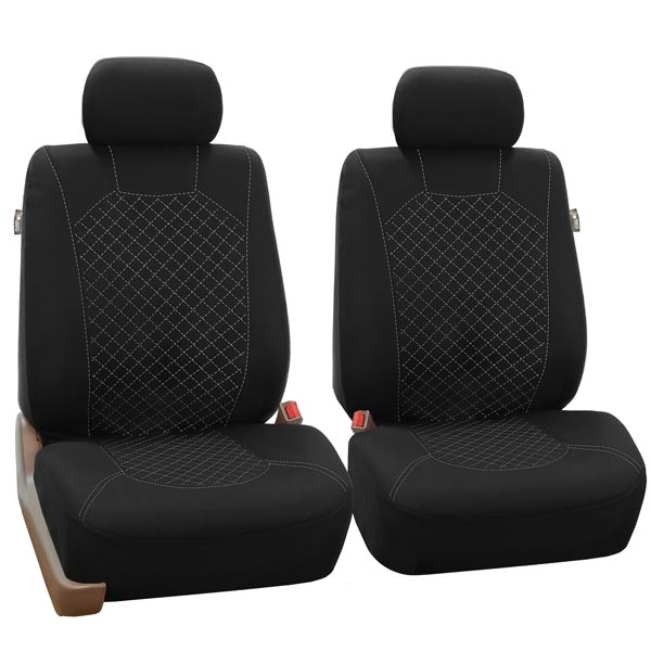 Quilted Flat Cloth Seat Covers - Front