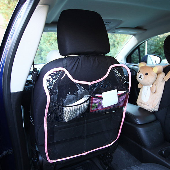 Car Seat Back Protector with Mesh Pockets material