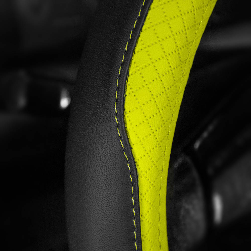 Geometric Chic Genuine Leather Steering Wheel Cover material