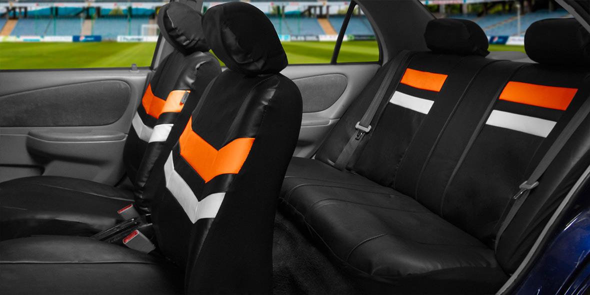 Varsity Spirit PU Leather Seat Covers - Rear banner