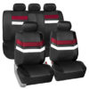 car seat covers PU006115 burgundy 01