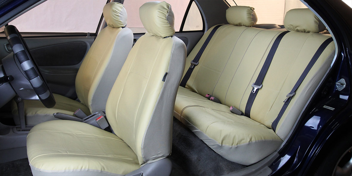 Highest grade faux leather Seat Covers - Rear banner