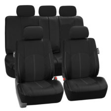 PU008115 black seat cover