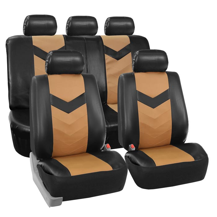 car seat covers PU021115 tan 01