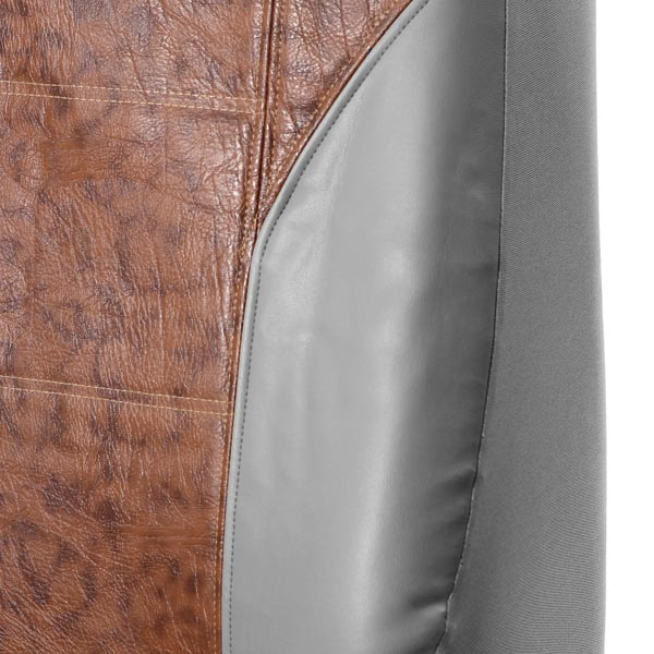 Tortoise shell Textured Leather Seat Covers - Rear material