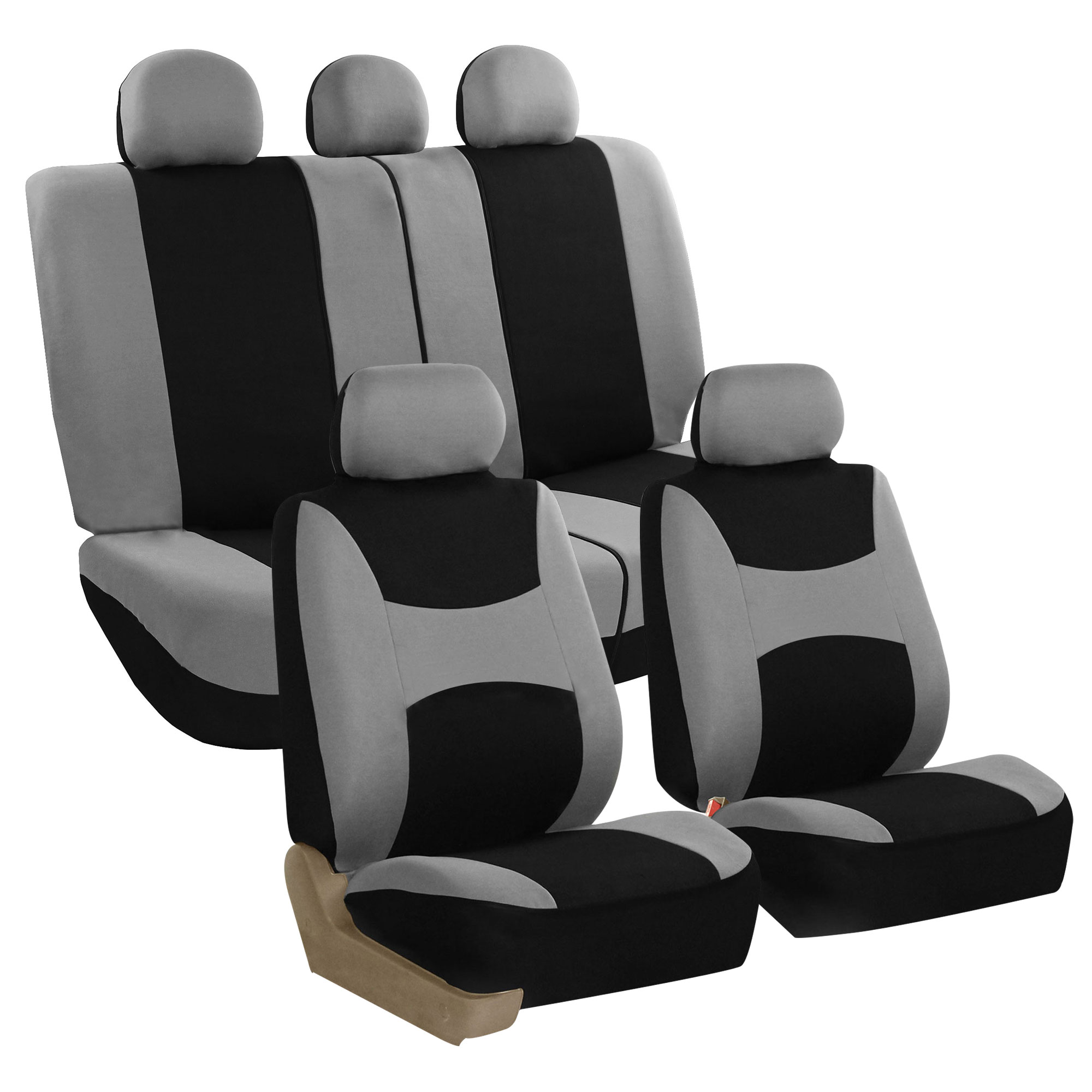 FB030 gray full set seat covers
