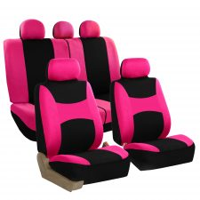 FB030 pink full set seat covers