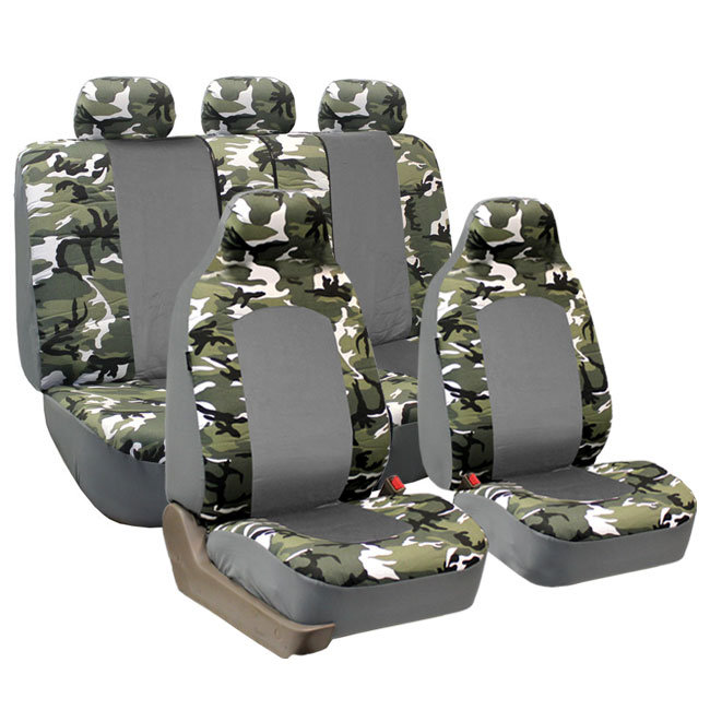 Classic Camouflage Seat Covers - Full Set - Light Camo FB108Light115 1