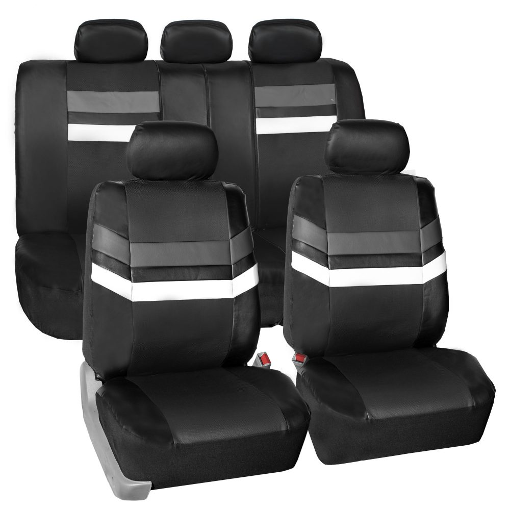PU006gray-115 seat covers
