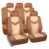 car seat covers PU021115 beige 01