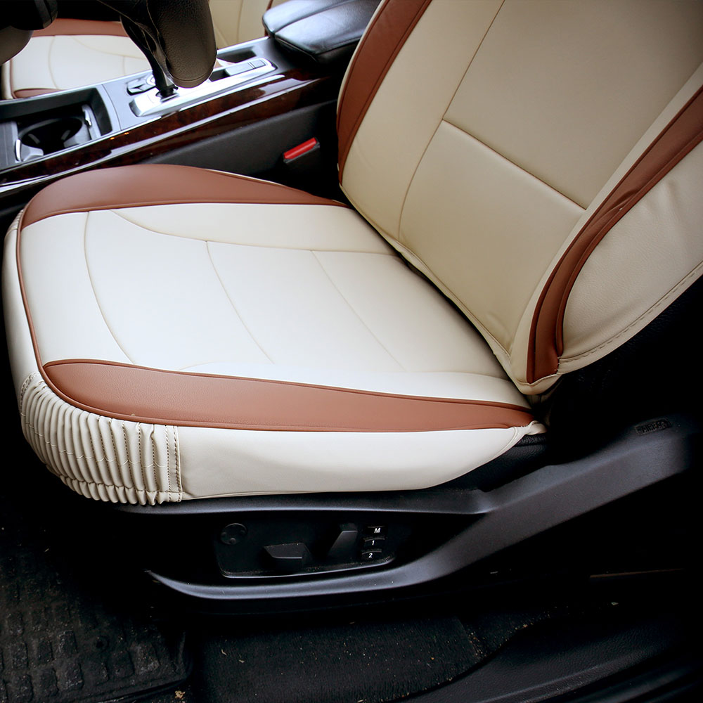 Ultra Comfort Leatherette Seat Cushions - Front material