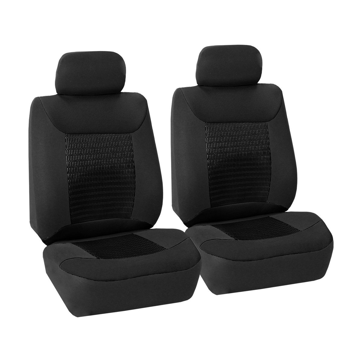 Black Premium 3d Air Mesh Fabric 3 Row Seat Covers Fh Group