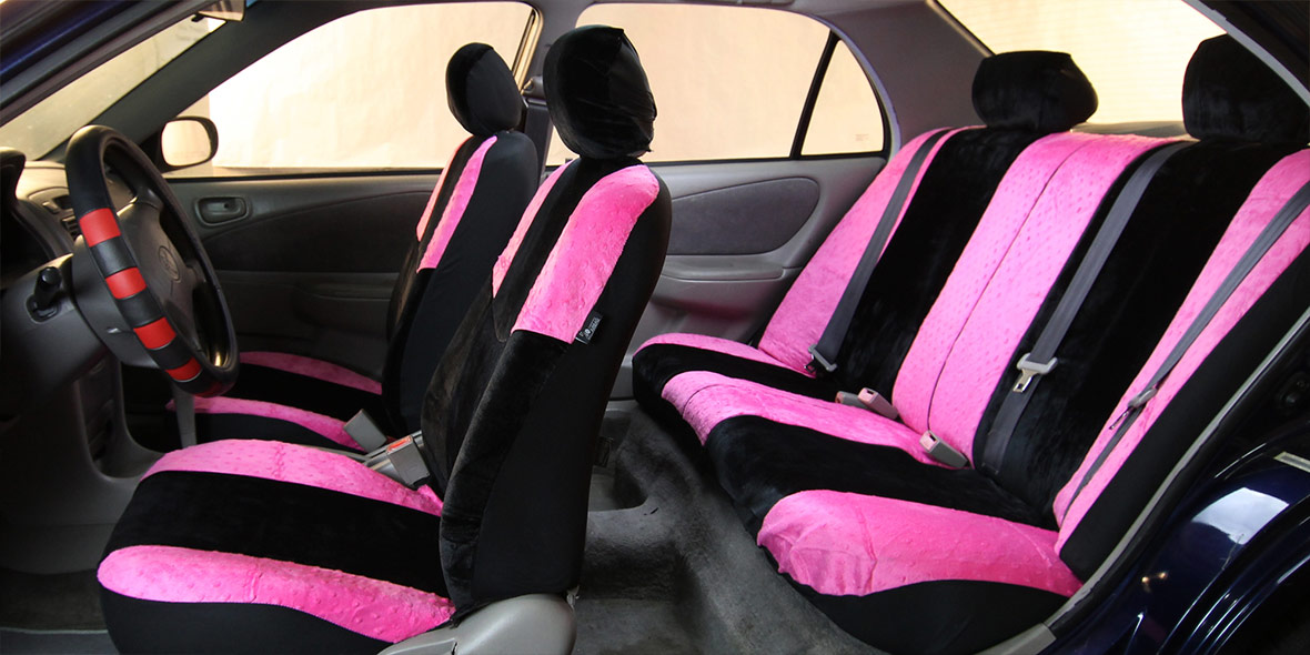 Lush Velour Seat Covers - Front banner
