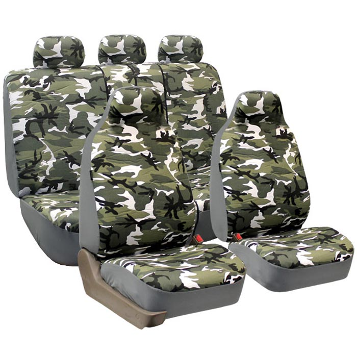 Trendy Camouflage Seat Covers - Full Set