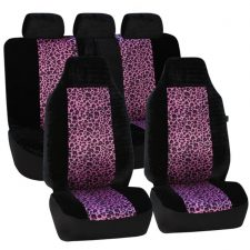 seat covers FB126115 2tone purple leopard 1