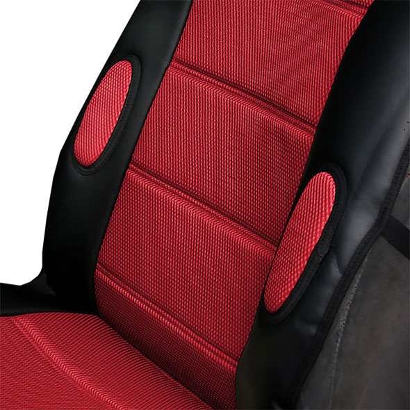 Leatherette Cushion Pads With 3D Air Mesh - Front material