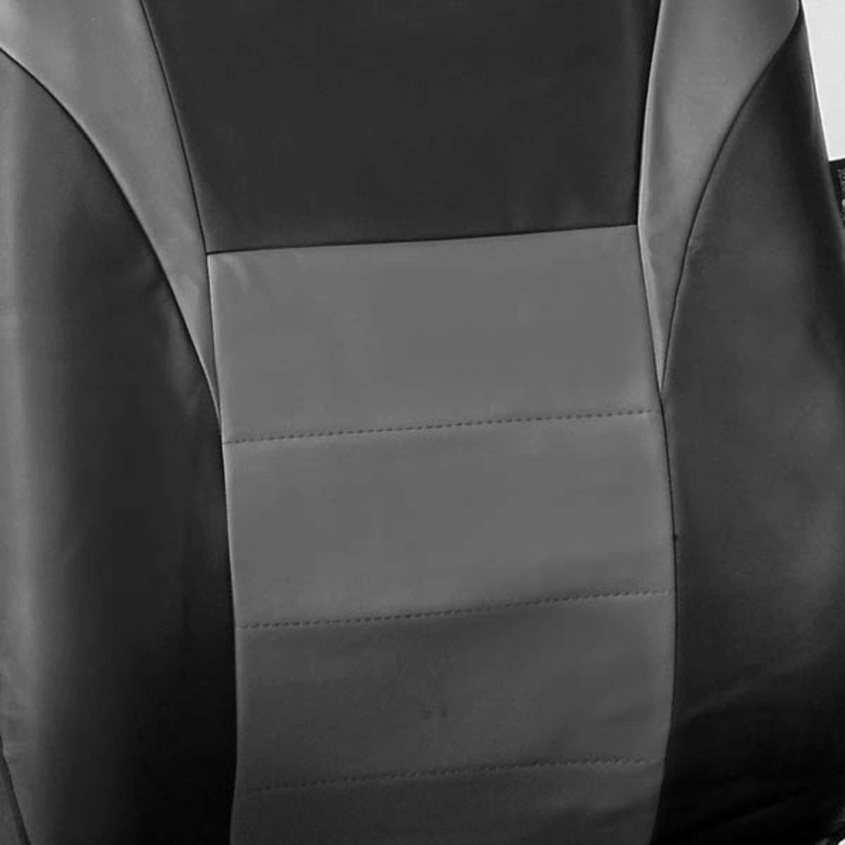 Race Car Inspired PU Leather Seat Covers - Front material