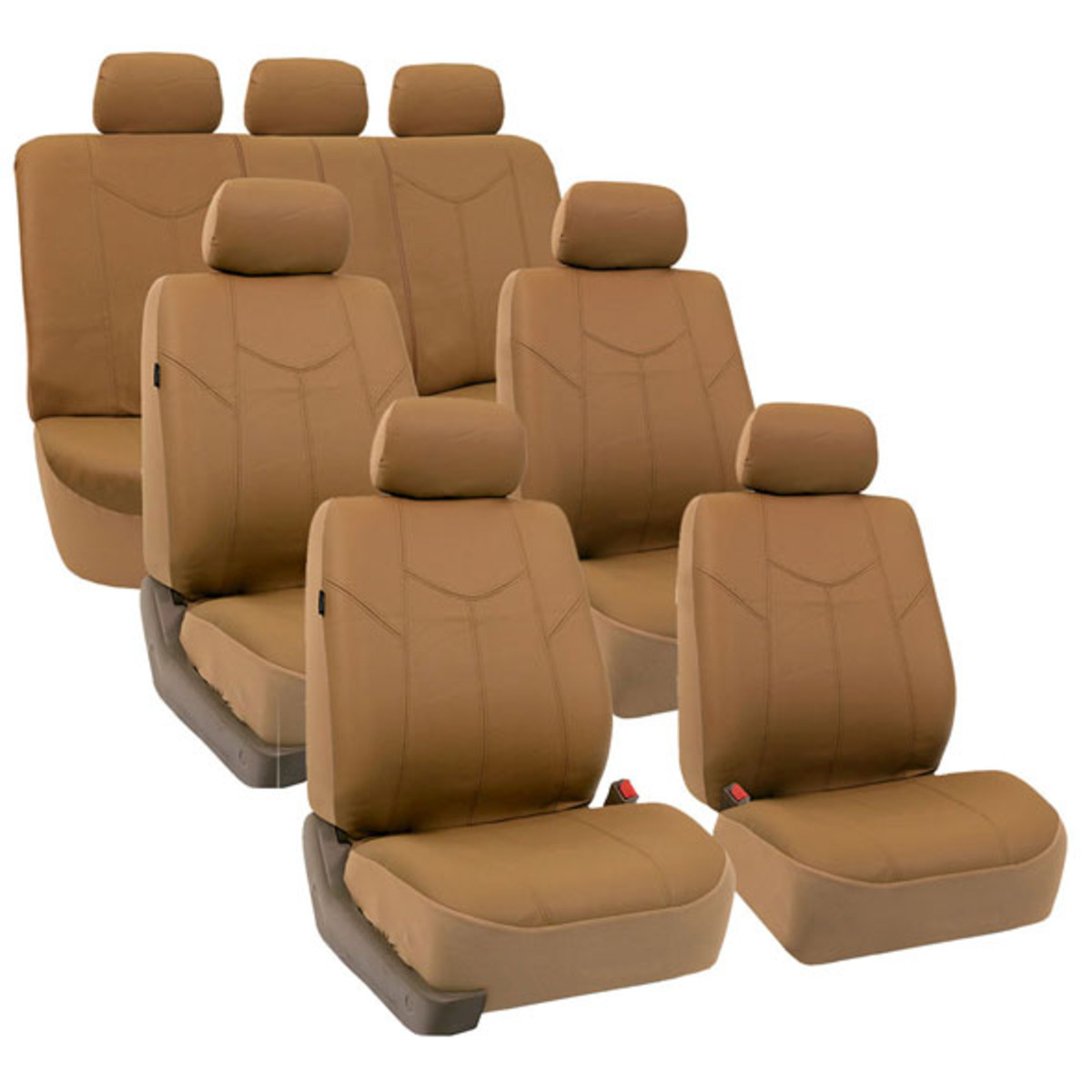 PU009217 TAN car seat covers 01