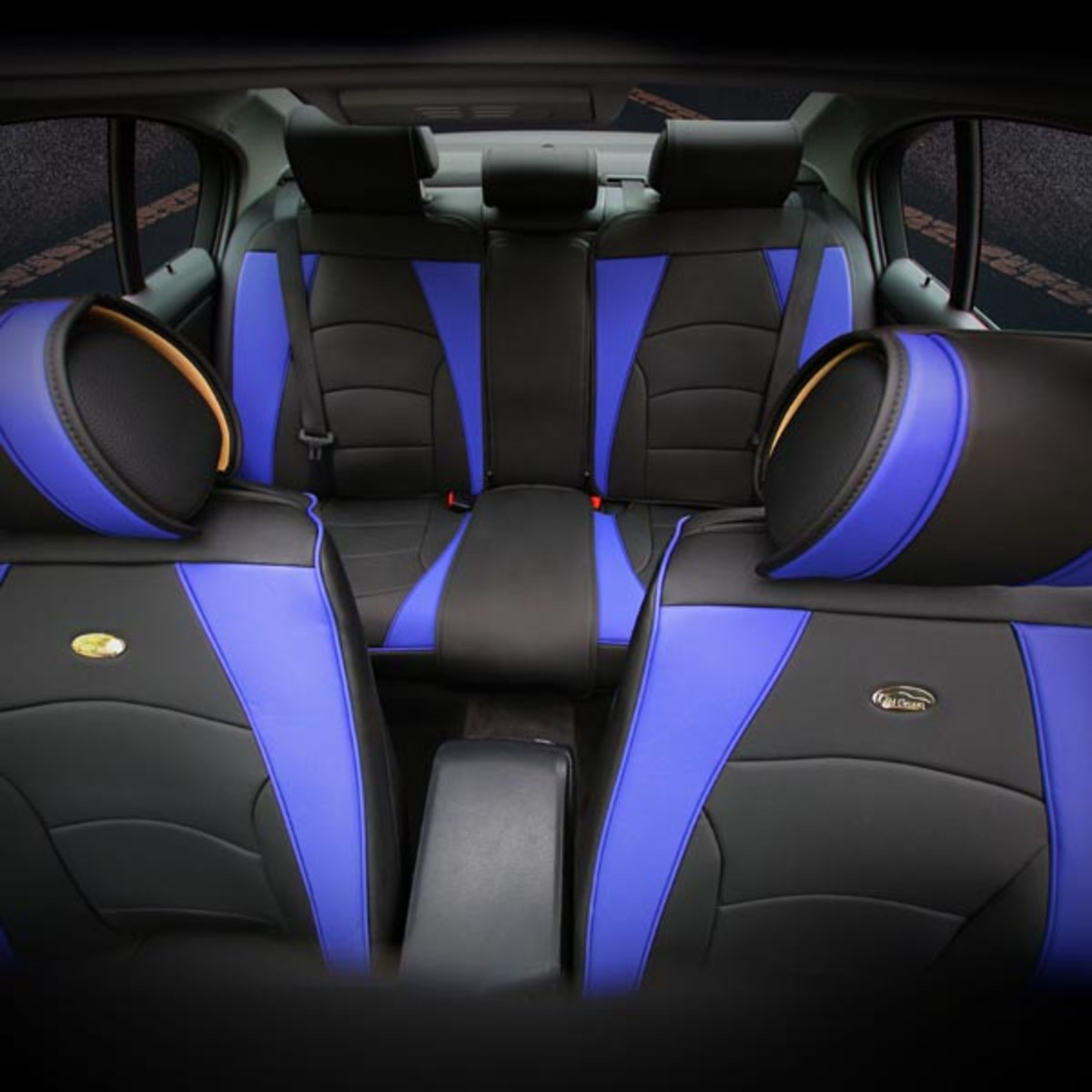 PU205115 seat covers blueblack 1