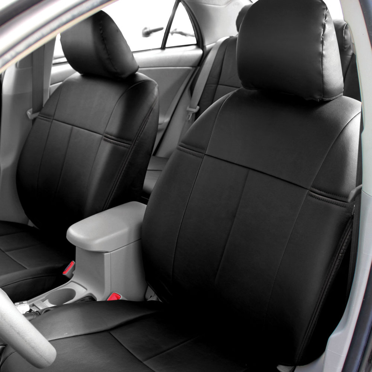 Custom Toyota Corolla Leatherette Front Seat Covers