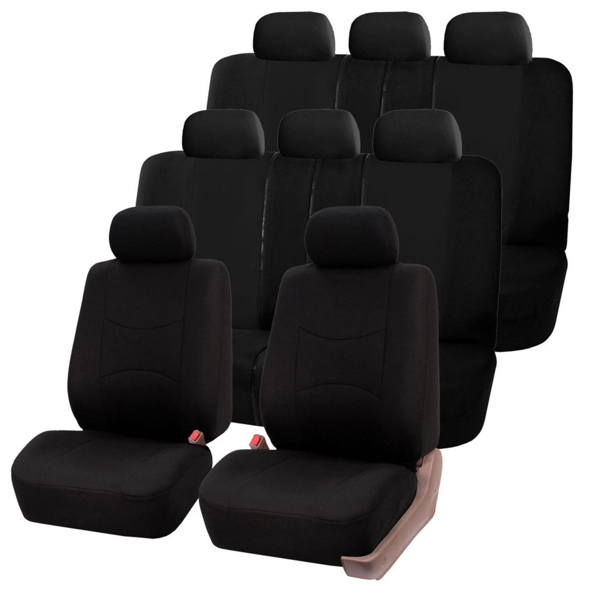 Multifunctional Flat Cloth 3 Row Car Seat Covers Fh Group