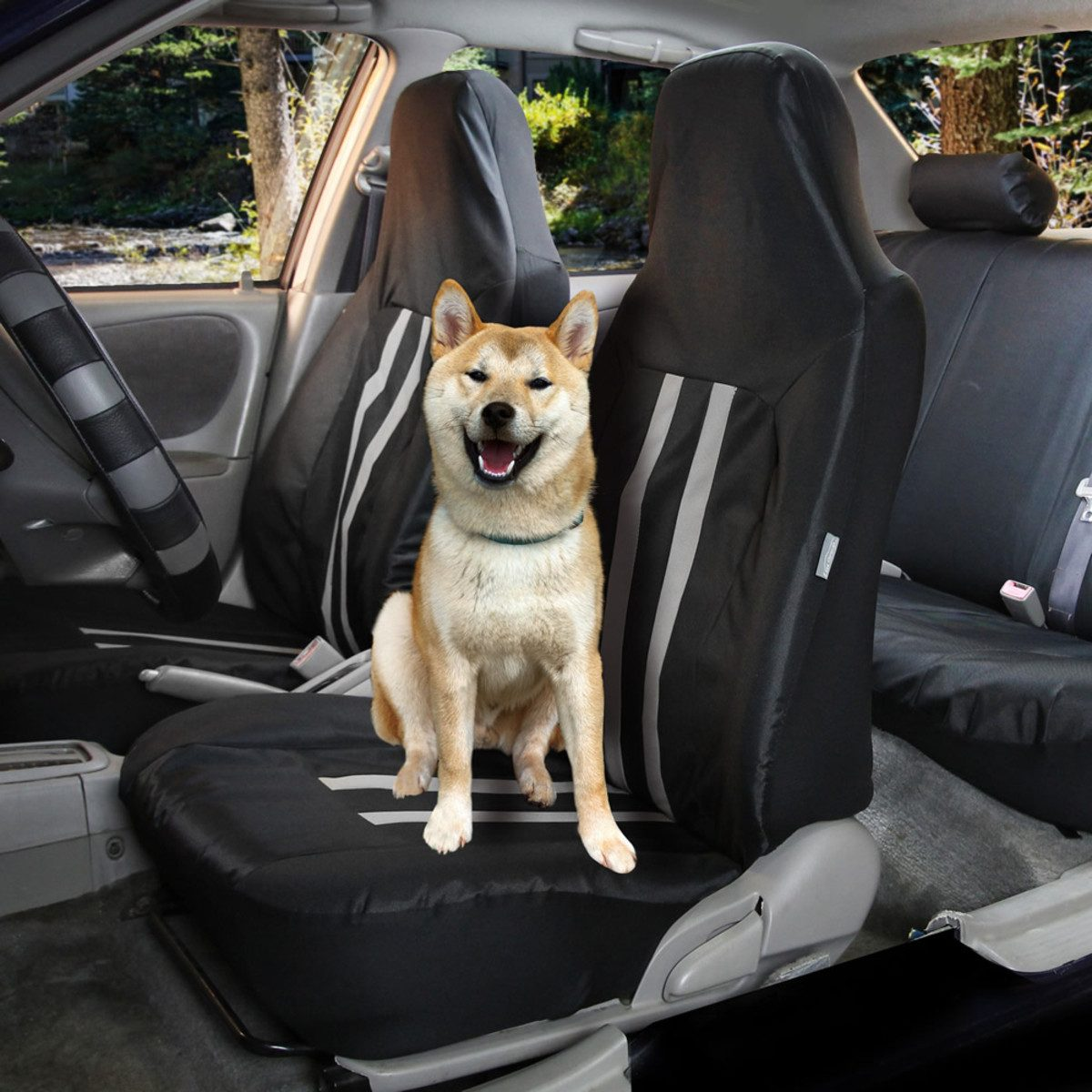 FB112GRAY114-PET_01-pet-proof Oxford Seat Covers 1