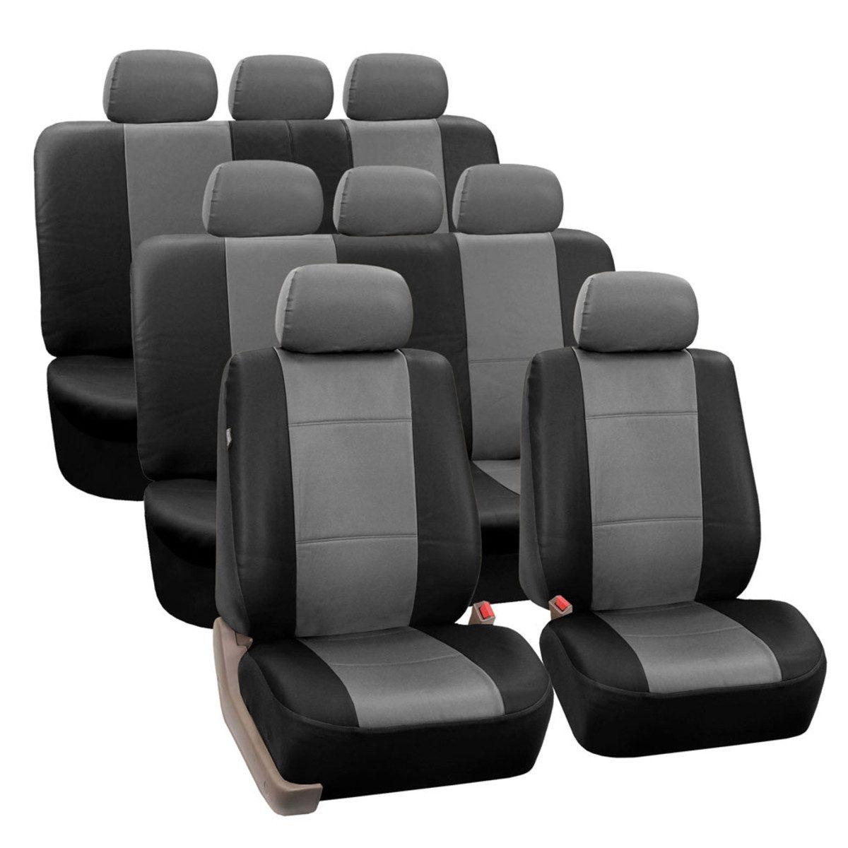 PU002128GRAYBLACK seat cover