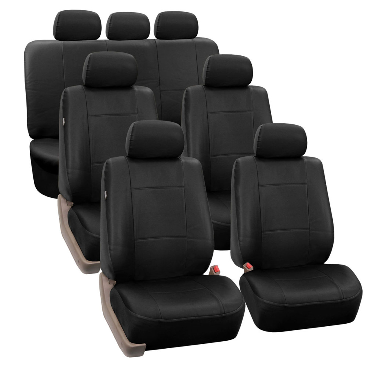 PU002217BLACK suv seat cover