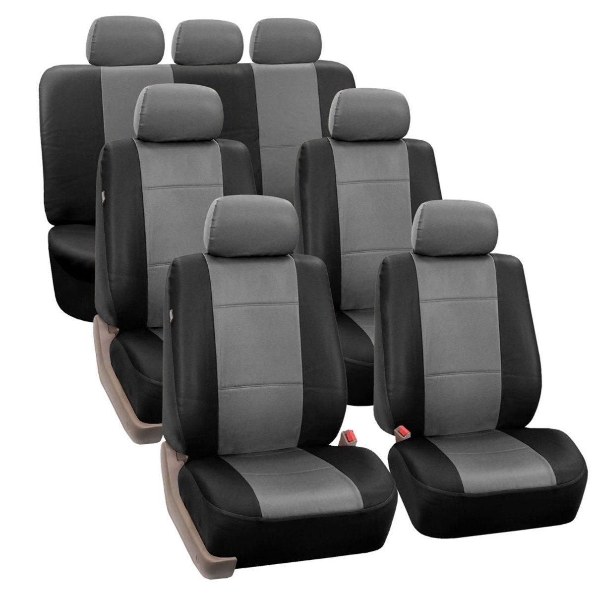 PU002217GRAYBLACK seat cover