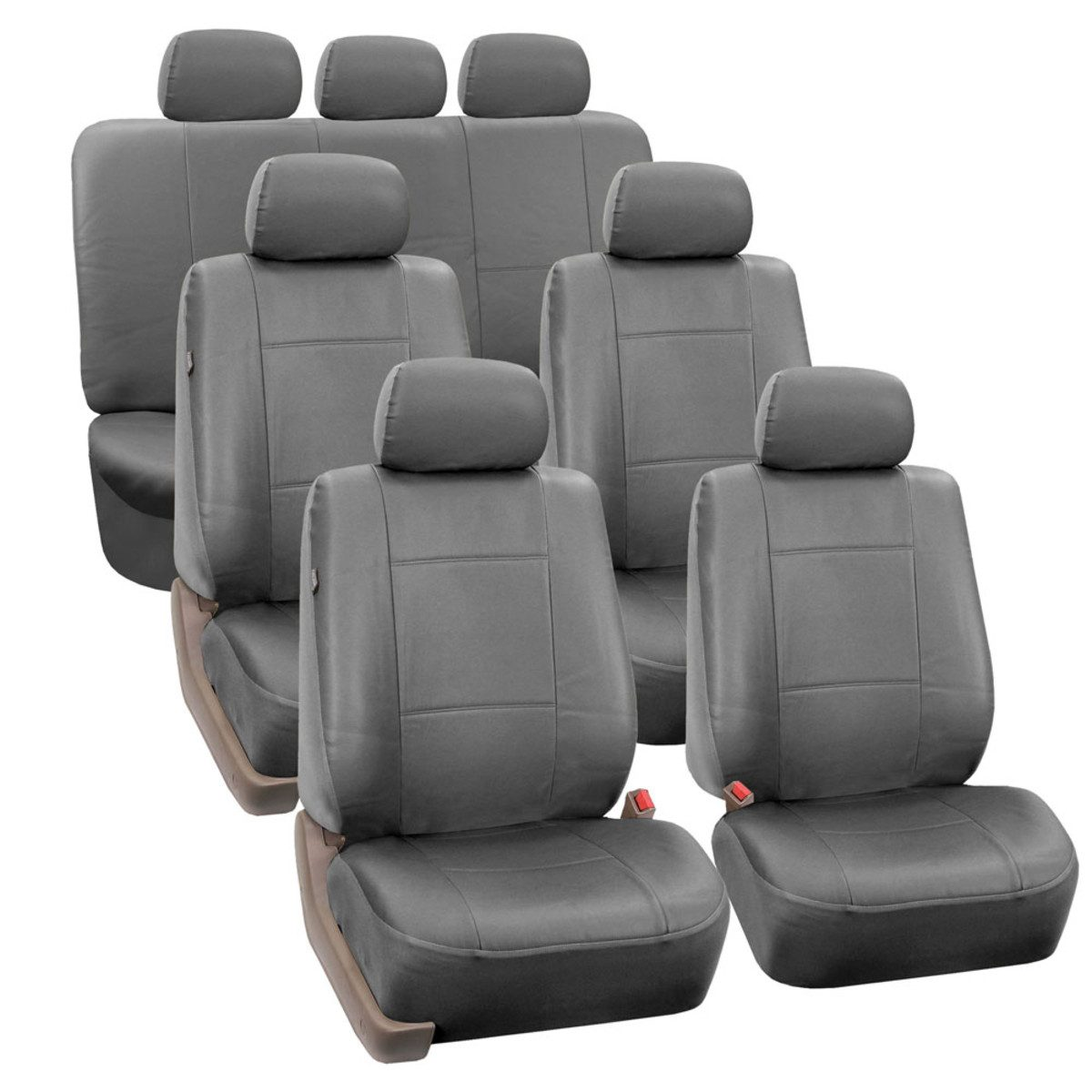 PU002217SOLIDGRAY seat cover