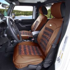 PU203102 brown seat covers