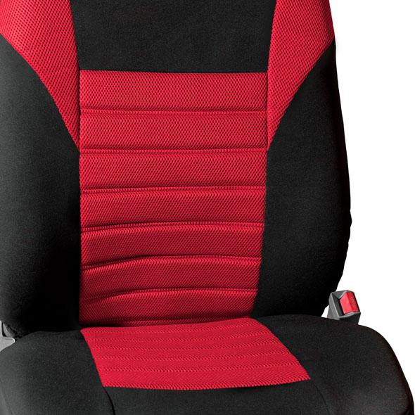 Premium 3D Air Mesh Seat Covers Full Set - Red material