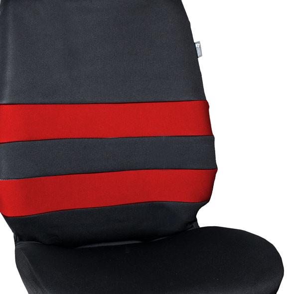 Neoprene Seat Cover Full Set - Red material