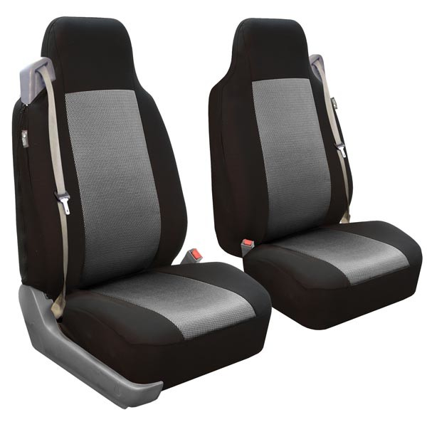 All-Purpose Built-In Seatbelt Classic Cloth Seat Covers - Front