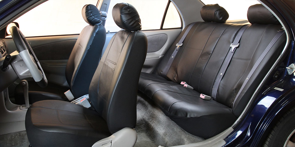 PU Leather Rear Seat Covers banner