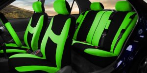 green black seat cover