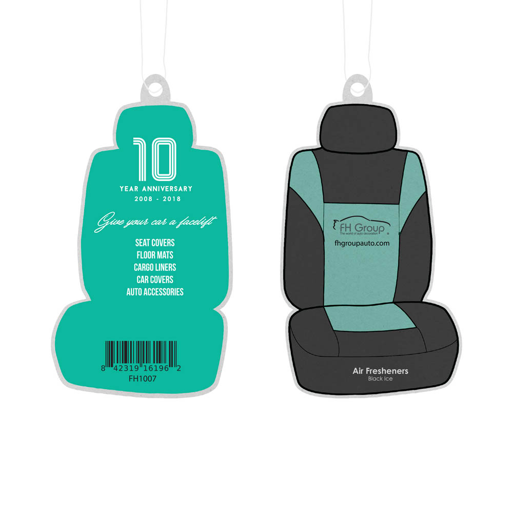 FH Group 10 Year Anniversary Air Fresheners material