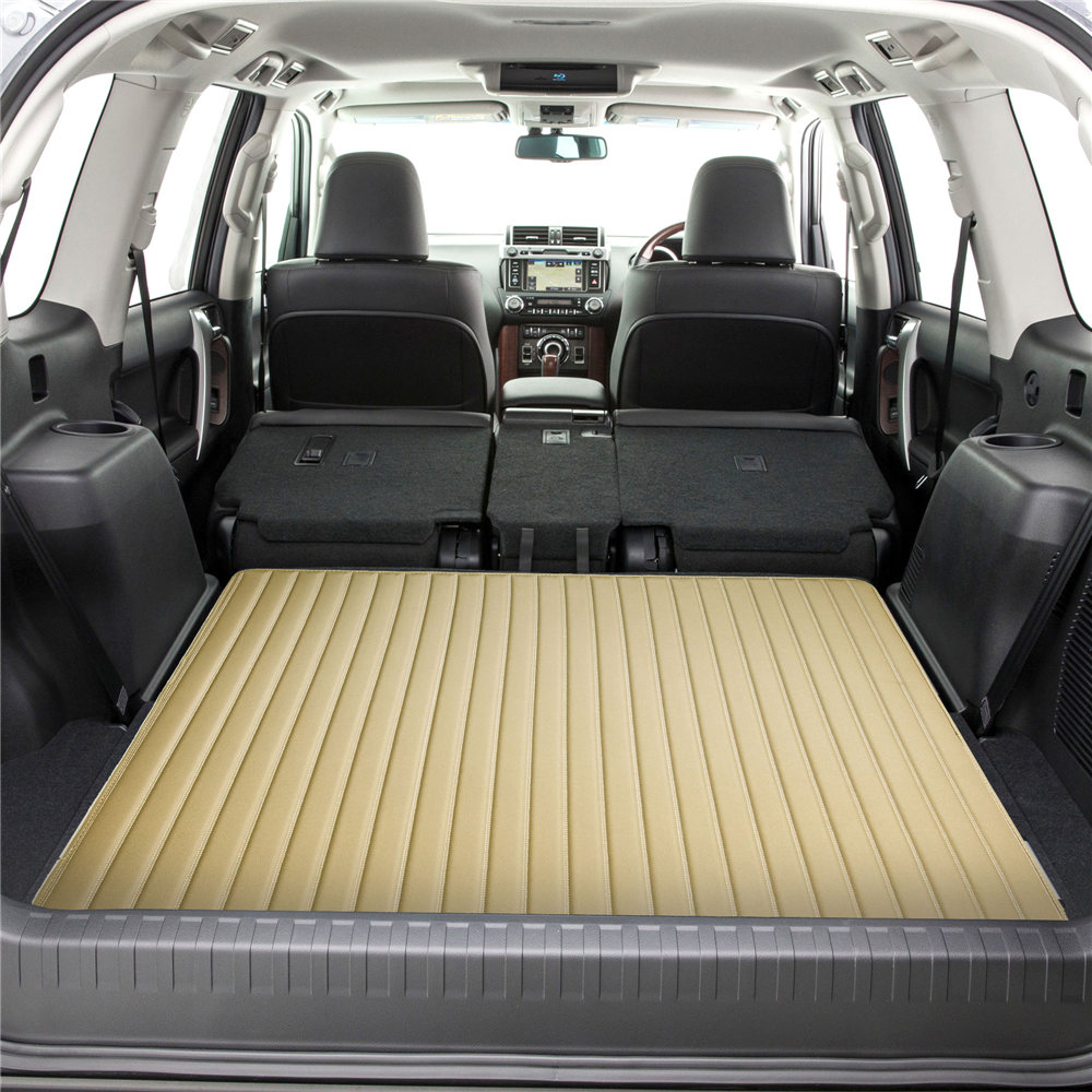 Deluxe Heavy-Duty Faux Leather Flat Stripe Multi-Purpose Cargo Liner F16500beige 46 4