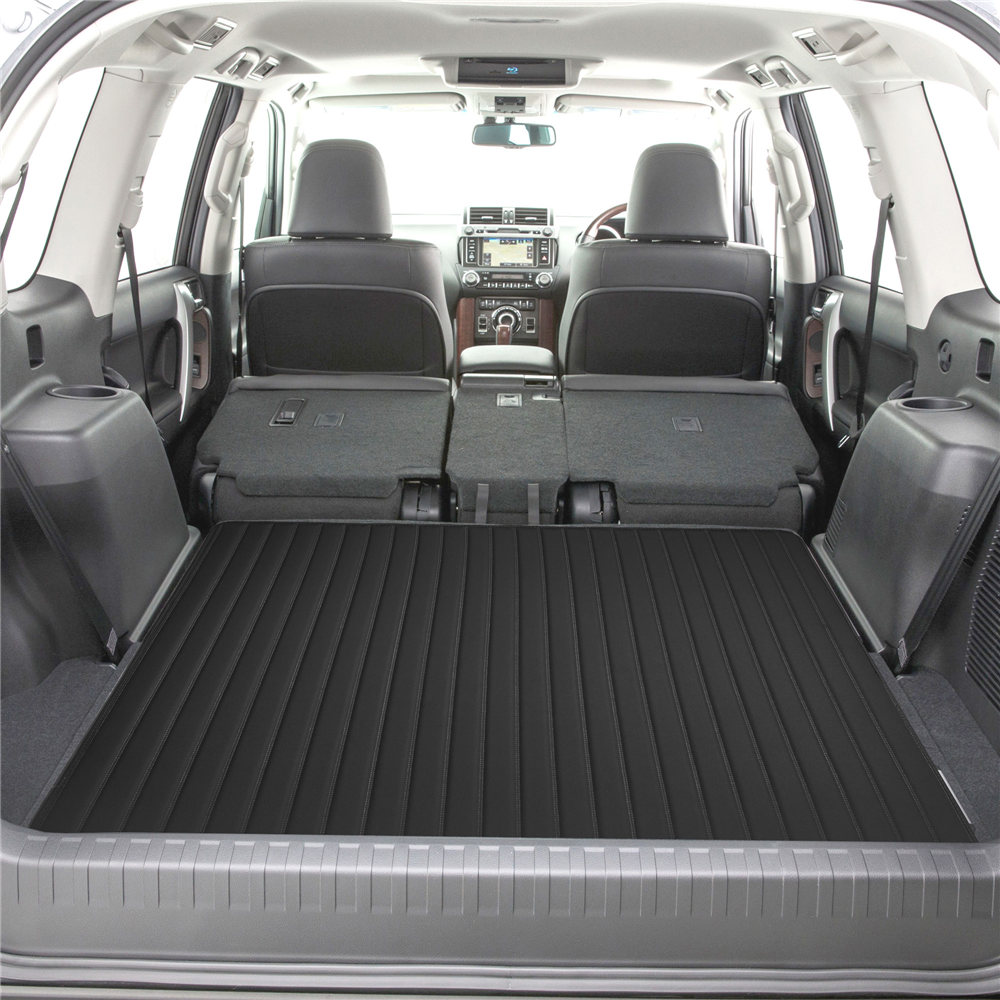 Deluxe Heavy-Duty Faux Leather Flat Stripe Multi-Purpose Cargo Liner F16500black 46 4