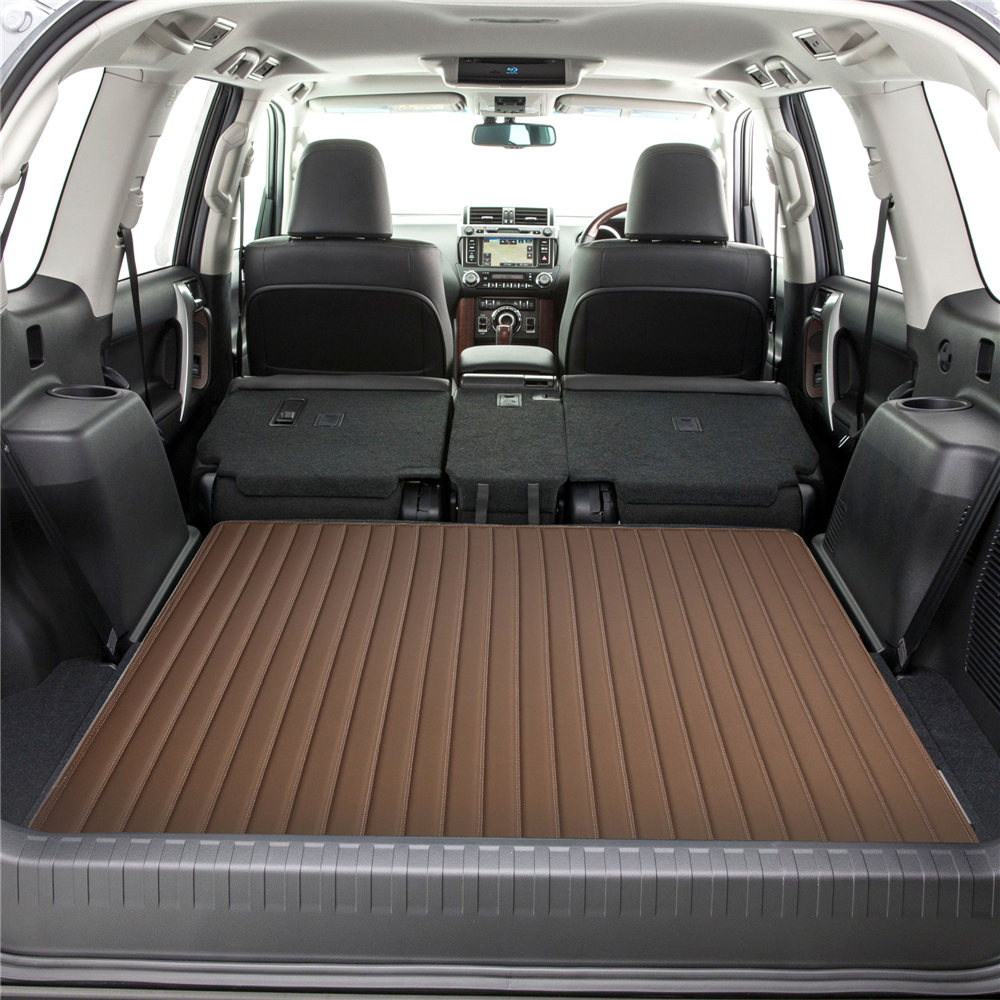 Deluxe Heavy-Duty Faux Leather Flat Stripe Multi-Purpose Cargo Liner F16500brown46 4