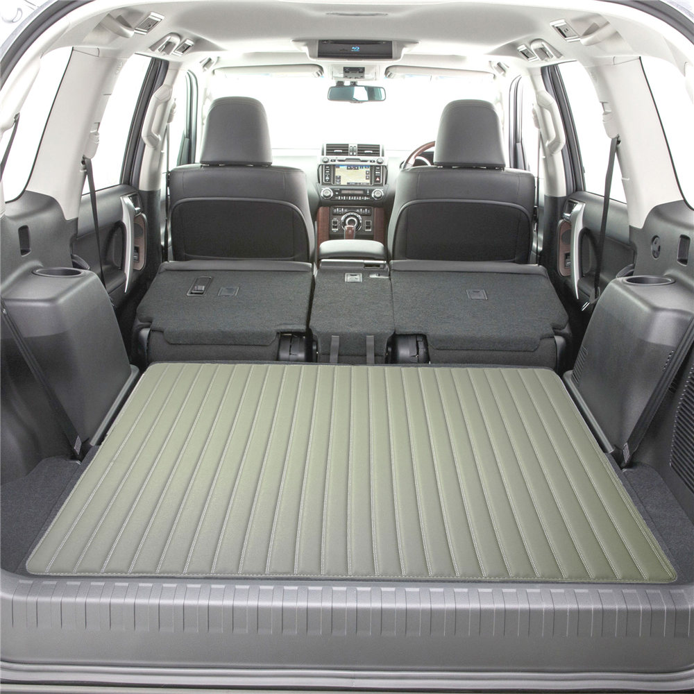 Deluxe Heavy-Duty Faux Leather Flat Stripe Multi-Purpose Cargo Liner F16500gray46 4