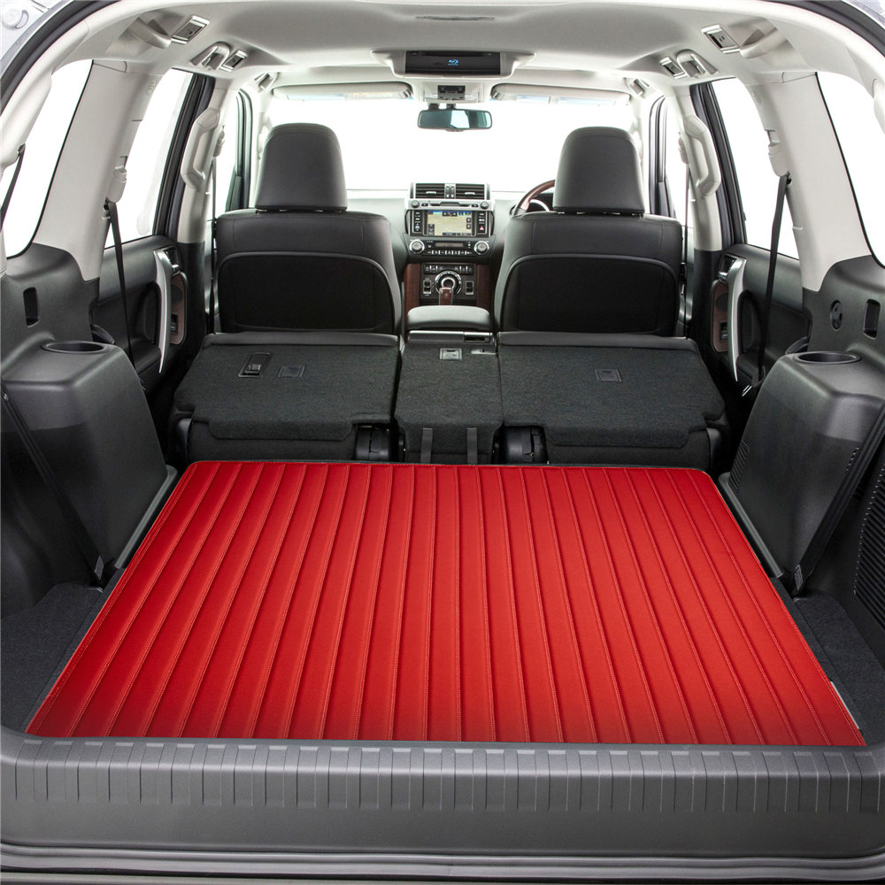 Deluxe Heavy-Duty Faux Leather Flat Stripe Multi-Purpose Cargo Liner F16500red46 04
