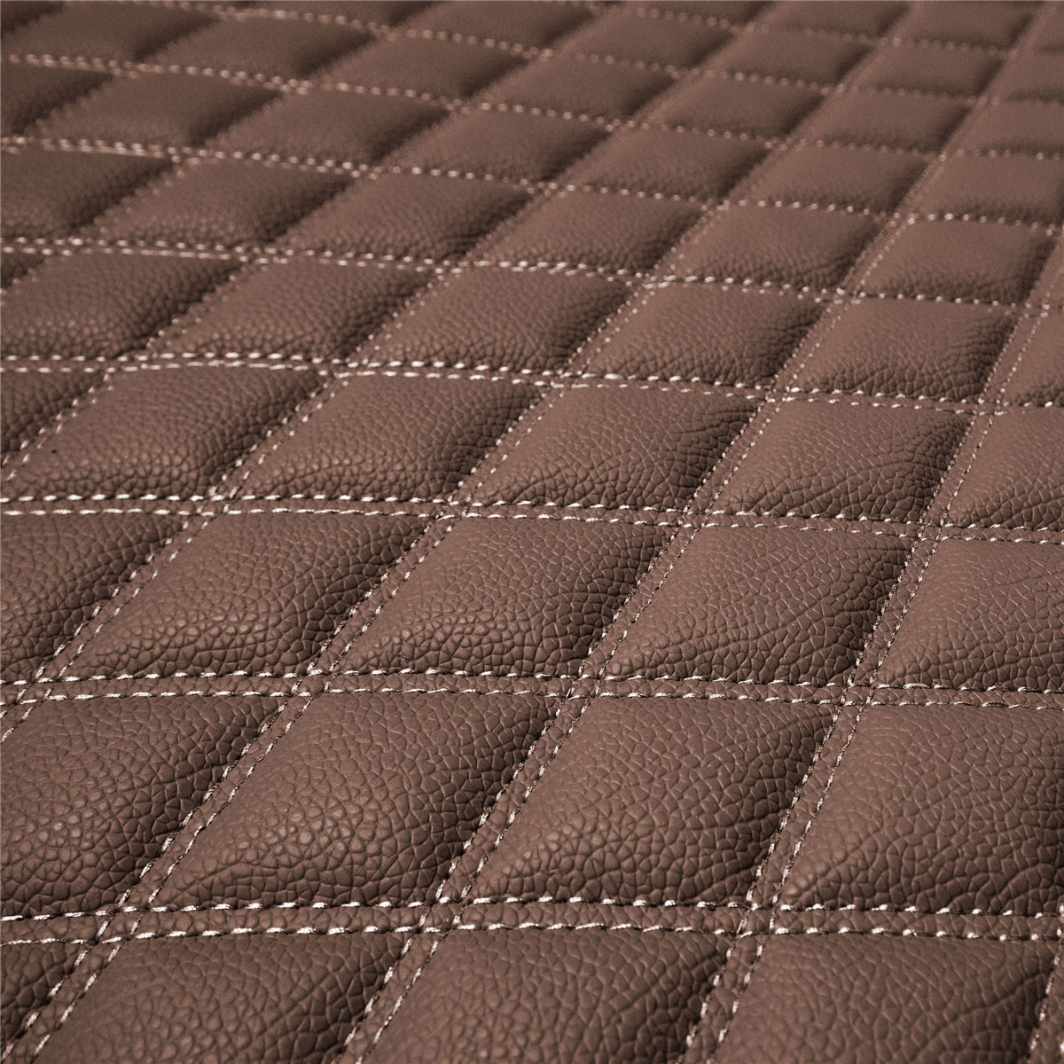 Deluxe Heavy-Duty Faux Leather Diamond Pattern Multi-Purpose Cargo Liner material