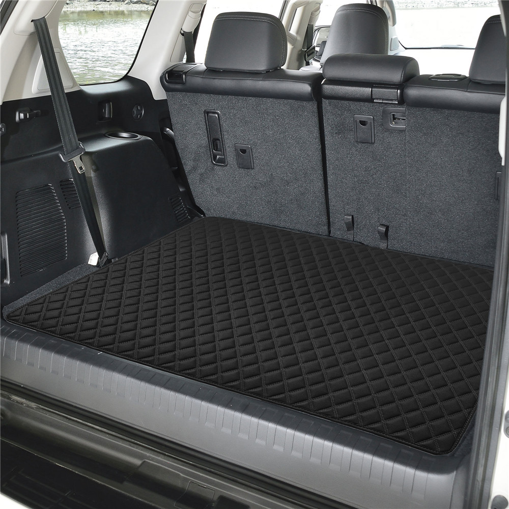 Deluxe Heavy-Duty Faux Leather Diamond Pattern Multi-Purpose Cargo Liner f16501black32 04