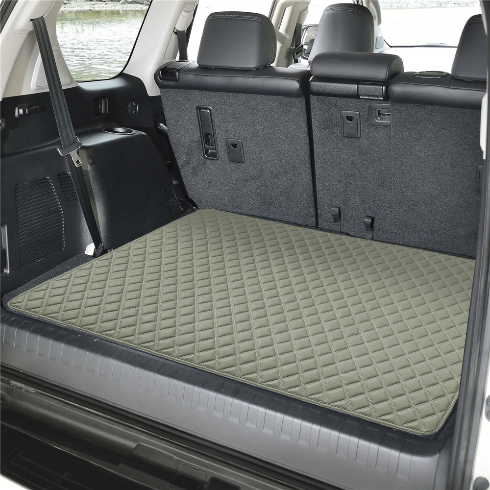 Deluxe Heavy-Duty Faux Leather Diamond Pattern Multi-Purpose Cargo Liner f16501grey32 04