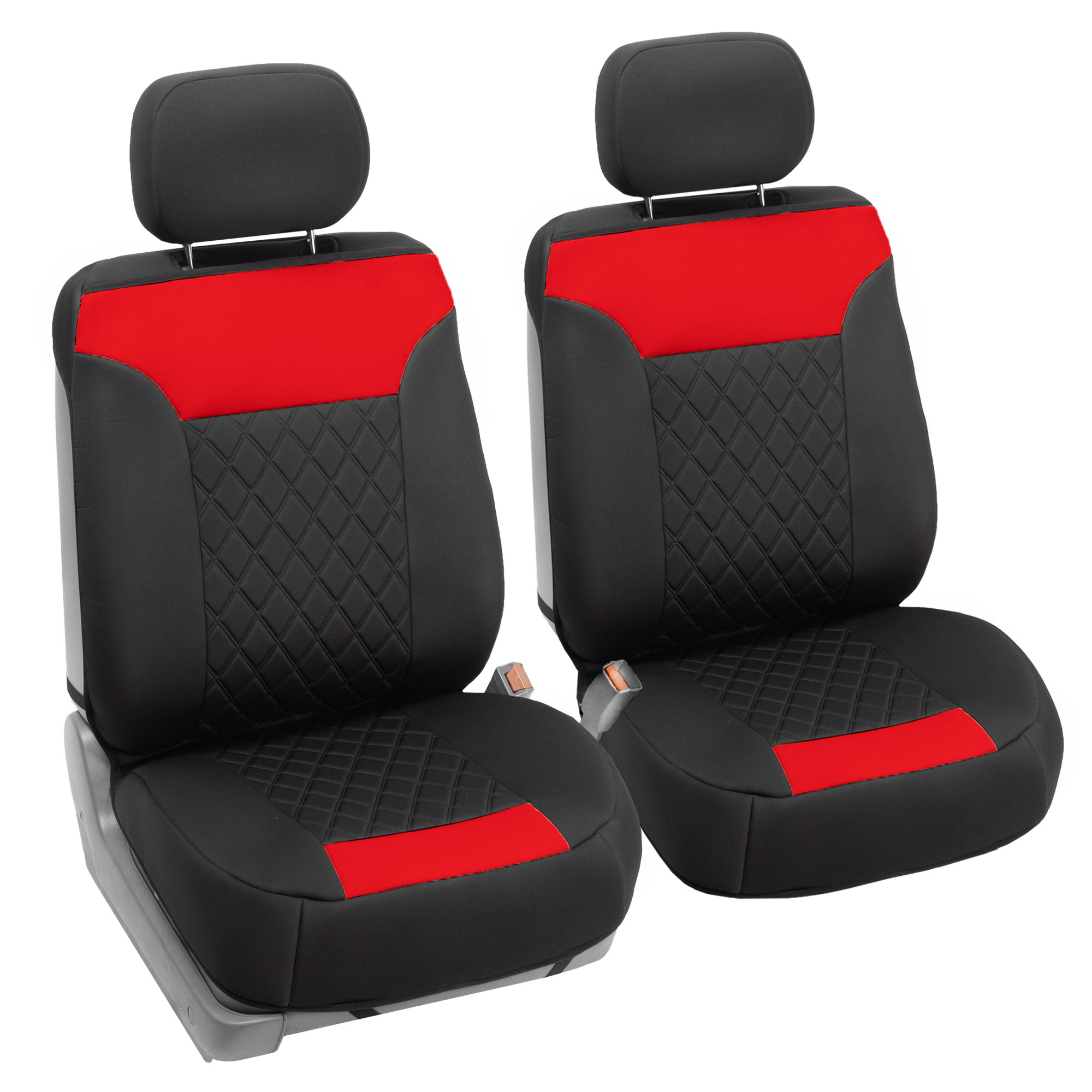 Neosupreme Quality Car Seat Cushions - Front FB089red102 01